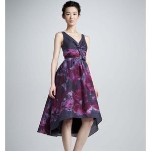 💜 Lela Rose Neiman Marcus Purple Watercolor Dress